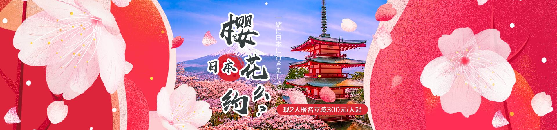 日本初春雪落樱花绽